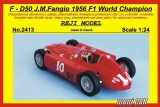 REJI MODEL 2413 FERRARI D 50 F1 World Champion 1956 J. M. Fangio (1:24)