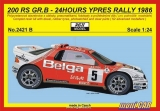 REJI MODEL 2421 B FORD 200 RS GR.B BELGA 24H Ypres Rally ´86 R.Droogmans (1:24)