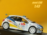 PEUGEOT 207 S2000 Guillaume Canivenq - Sébastien Grimal Rally Alsace-Vosges 2009 (1:43) Altaya/IXO