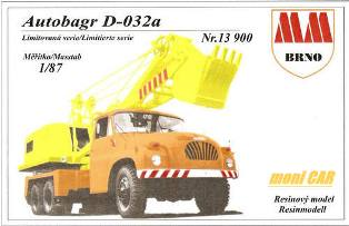MM BRNO N°13900 Tatra 138 D 032a Autobáger (resin kit 1:87)