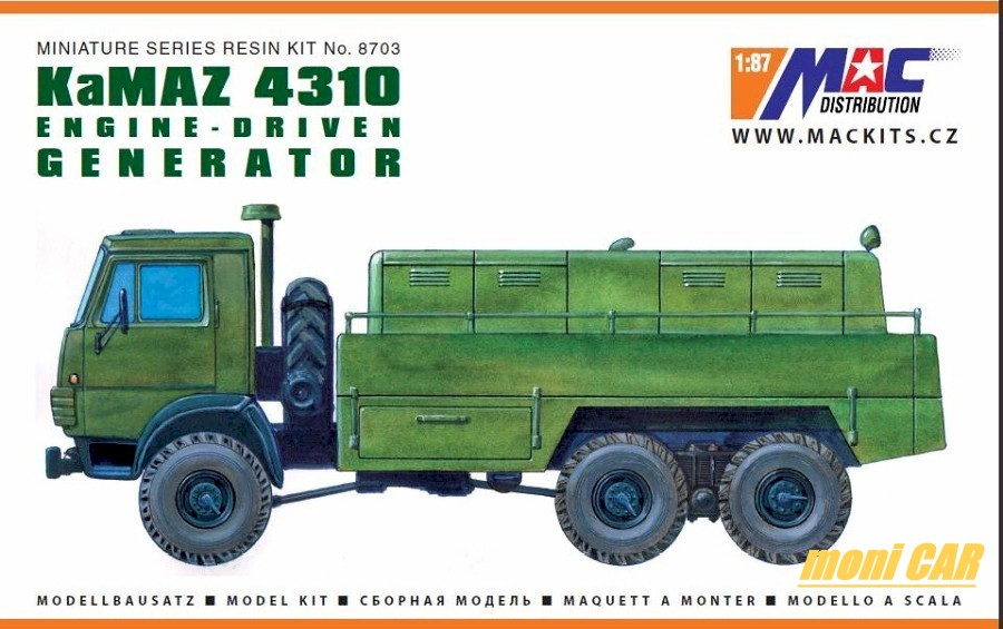 MAC DISTRIBUTION RES703 KaMAZ 4310 GENERATOR (1:87)