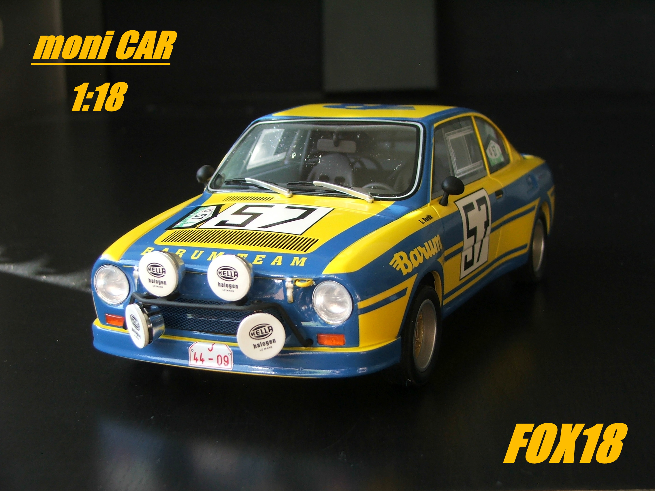 Škoda 130 RS n. 57 Barum Rally Šumava 1978  Pavlík L. - Gottfried O. Limited Edition (1:18) FOX18