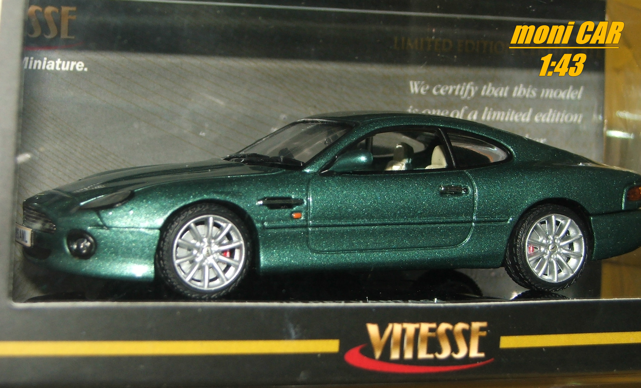ASTON MARTIN DB7 Vantage 2002 (AM Racing Green) (1:43) VITESSE