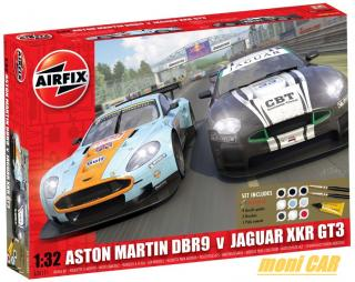 AIRFIX A50111 ASTON MARTIN DBR9 v JAGUAR XKR GT3 (Set Includes) (1:32)