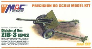 MAC DISTRIBUTION 87062 Divisional Gun ZIS-3 1942 (1:87)