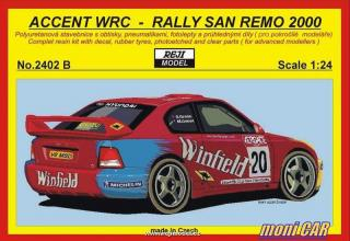 "REJI MODEL 2402 B HYUNDAI Accent WRC N°20 Rally San Remo 2000 ""Winfield"" (1:24"