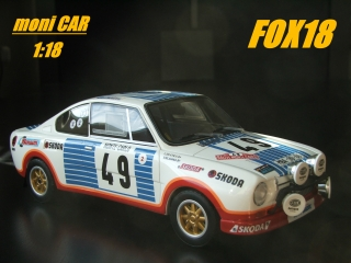 Škoda 130 RS N°49 Rally Monte Carlo 1977 Blahna Hlávka Limited Edition (1:18) FOX18