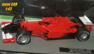 "FERRARI F2001 No.1 Ferrari F2001 ""Twin Towers"" Michael Schumacher GP Taliansko (1:43) Altaya/IXO"