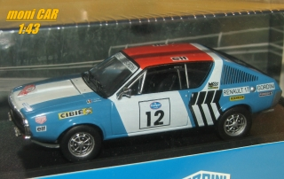 RENAULT 17 Gordini - Rallye Press on Regardless - 1974 (1:43) ATLAS